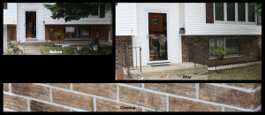Wheeling, IL, Brick Staining 1